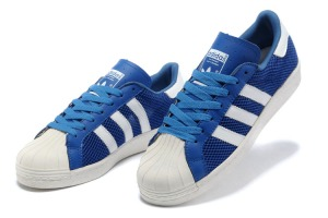 Mens Adidas Superstar 80s Trainers Blue_2